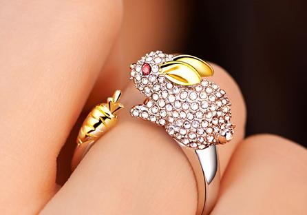 十二生肖鑲鑽合金指環