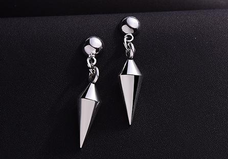 韓版低調極簡尖錐 耳針/黏式耳環