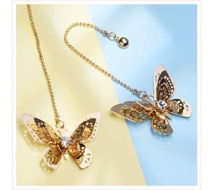 氣質立體蝴蝶 耳針/黏式耳環