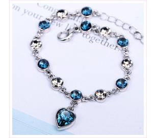 璀璨十二星座湖藍水晶手鍊