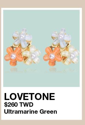 清新可愛珍珠花朵 無耳洞黏貼式耳環
