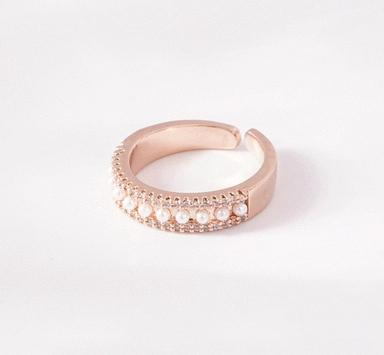 珍珠誓約開口戒指