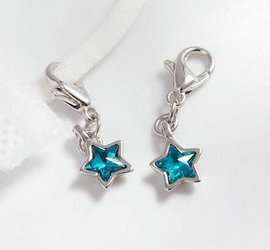 蔚藍五角星口罩吊飾