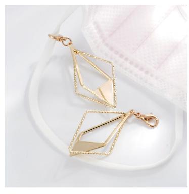 個性時尚幾何立體菱形口罩吊飾
