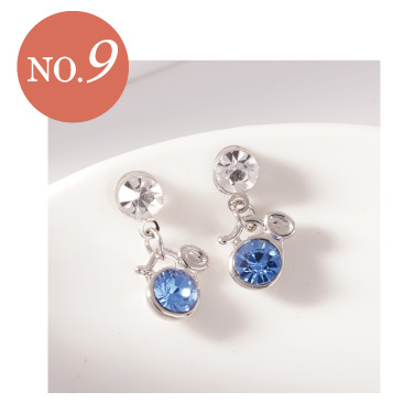 璀璨十二星座水晶黏貼式耳環