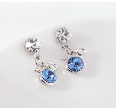 璀璨十二星座水晶無耳洞黏貼式耳環