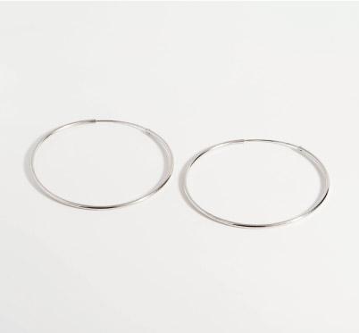 夢想的大圓圈經典時尚款耳針耳環純銀