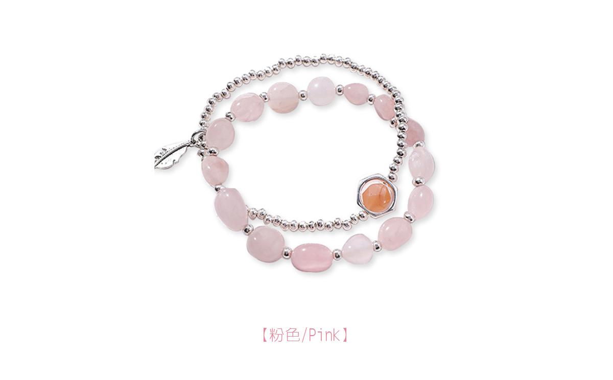 場景展示: 粉嫩水晶串珠手鍊