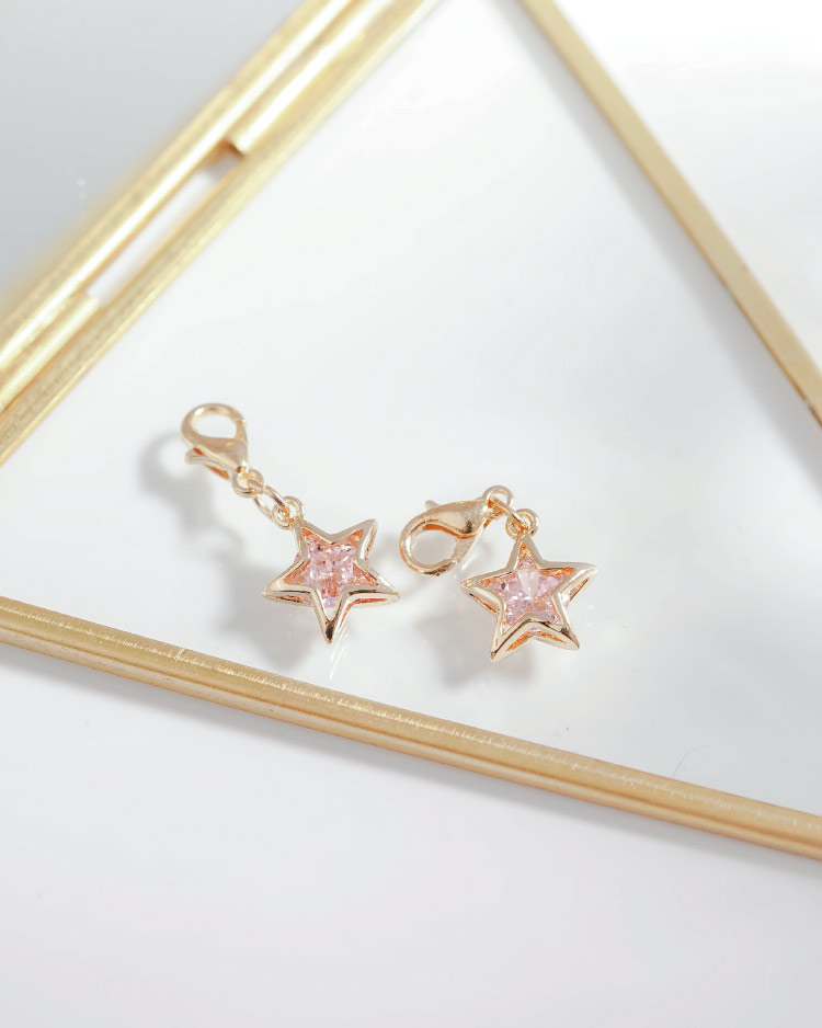 閃亮氣質鑽石星星口罩吊飾 場景展示