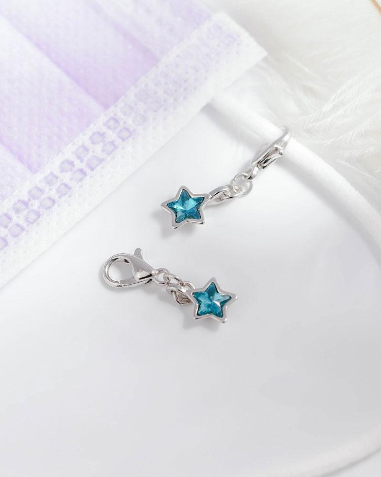 清新蔚藍五角星口罩吊飾 場景展示
