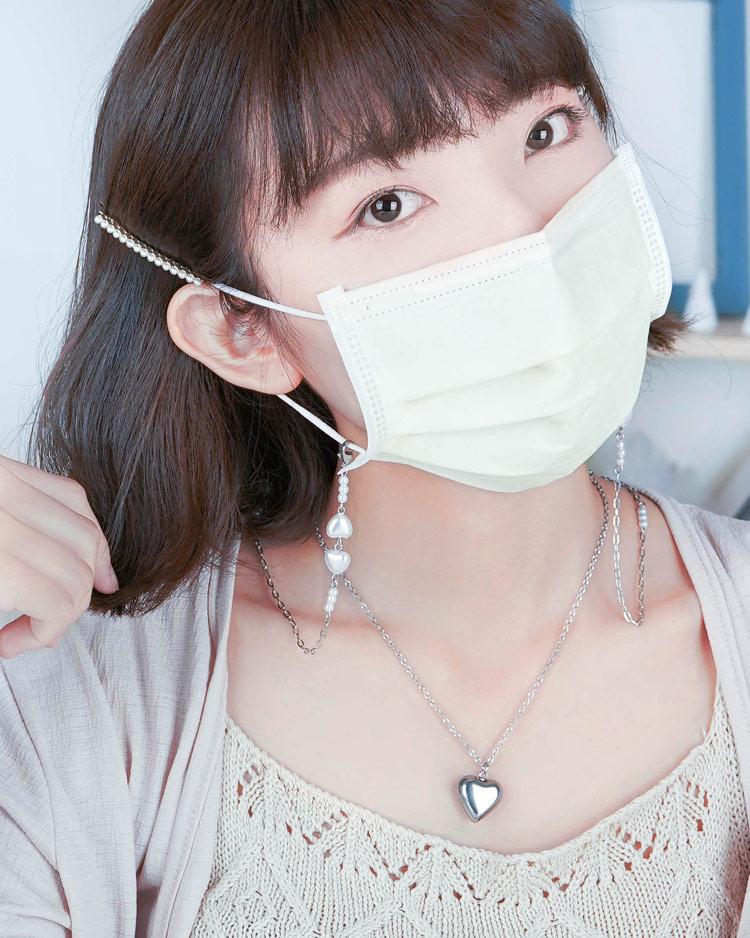 你與它的心心相印口罩鍊/項鍊 模特兒展示