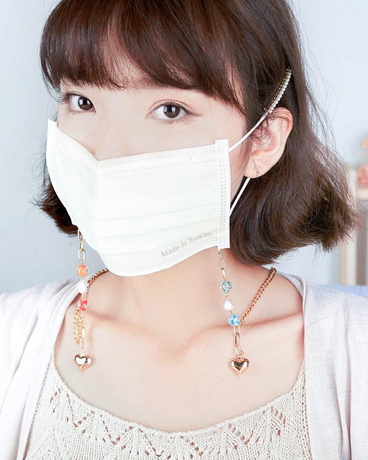 你與它的繽紛愛戀口罩鍊 模特兒展示