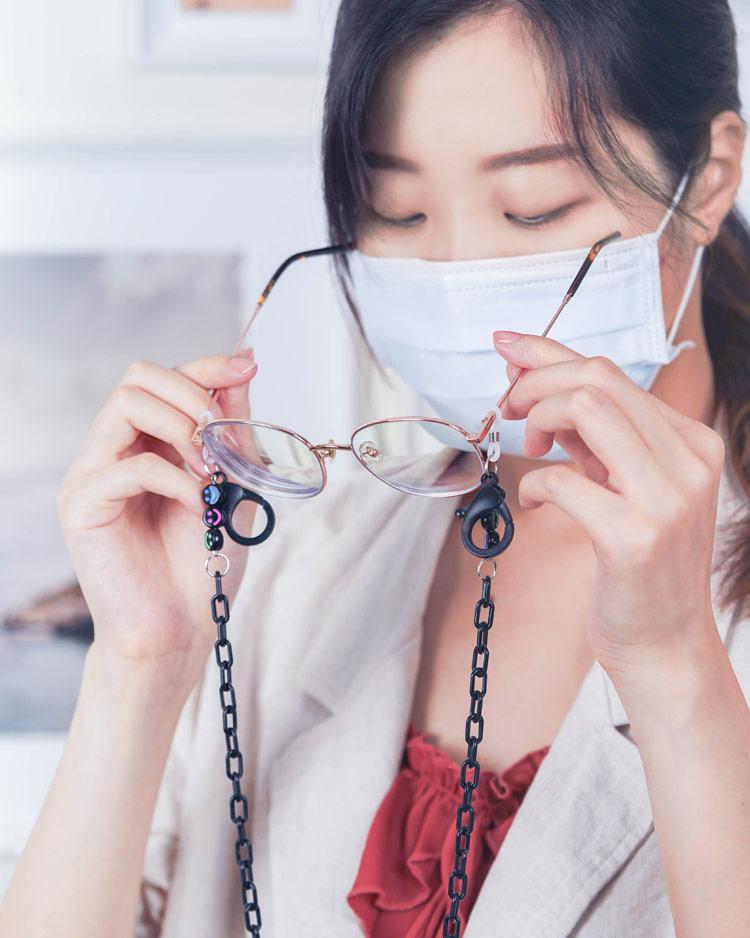 我們一起來微笑吧口罩鍊/眼鏡鍊 模特兒展示