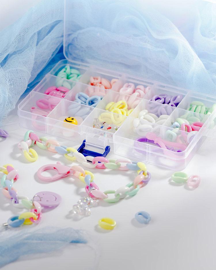 創意繽紛DIY口罩鍊/眼鏡鍊材料盒 場景展示