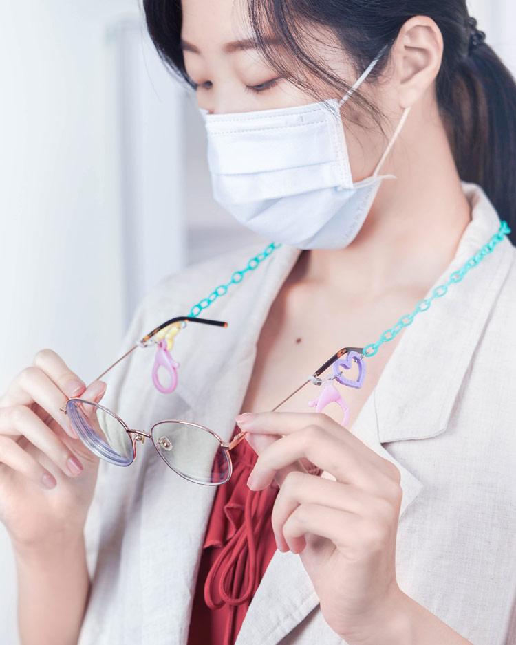 我們的心鏈在一起口罩鍊/眼鏡鍊 模特兒展示