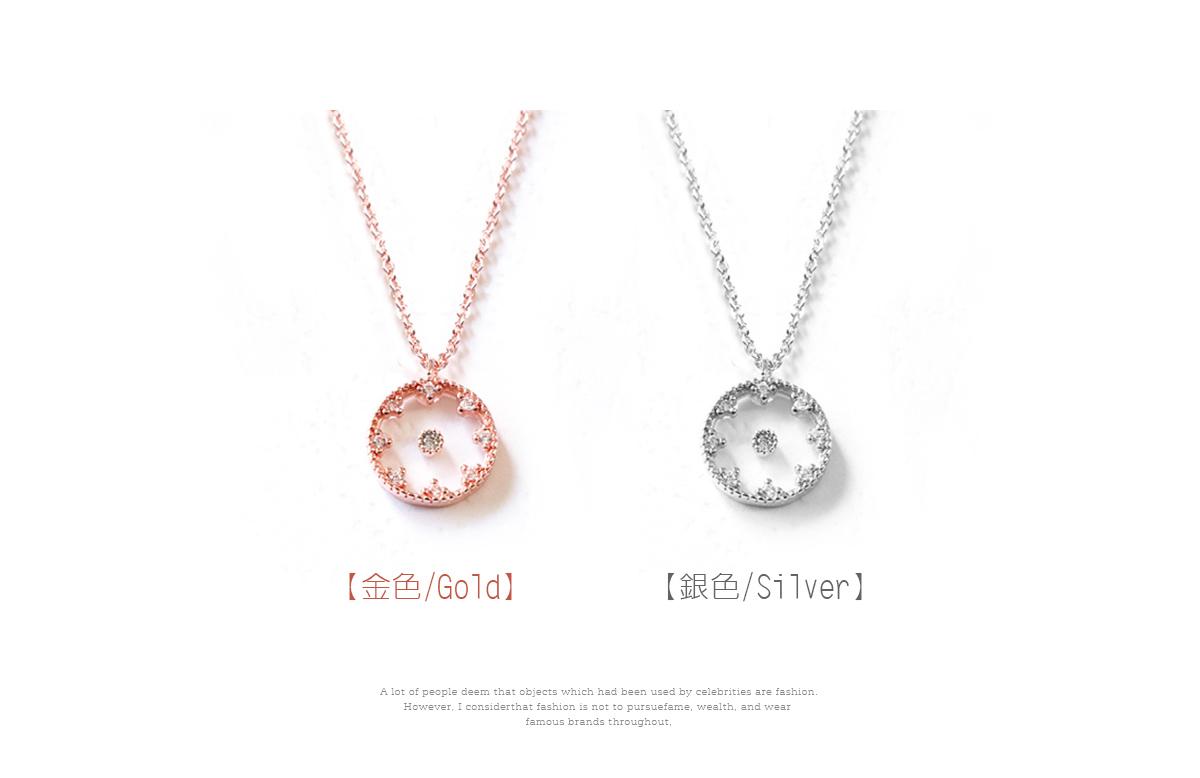 韓版氣質懸浮鑲鑽合金項鍊,懸浮水鑽