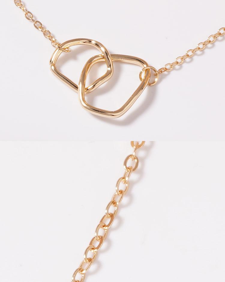愛戀交錯迴圈鎖骨項鍊 細節展示