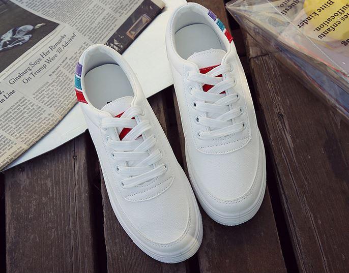 韓版圓頭休閒厚底小白鞋
