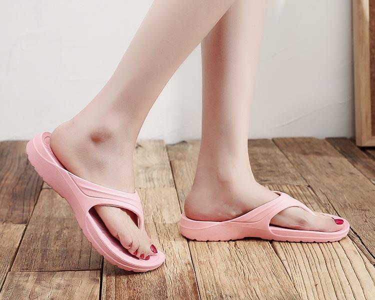 MIT台灣製-簡約純色一體成形夾腳拖