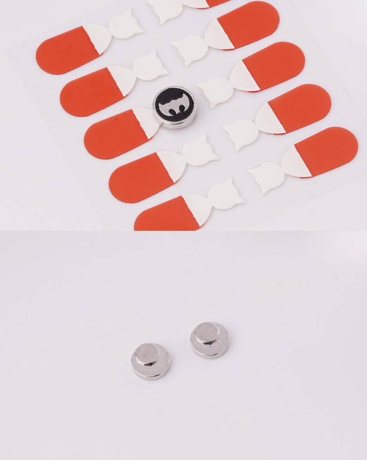 個性蝙蝠俠標誌 耳針/無耳洞黏貼式耳環 細節展示