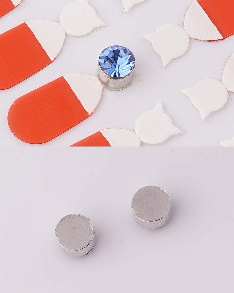 迷你精巧經典圓鑽 無耳洞黏貼式耳環 (5mm) 細節展示