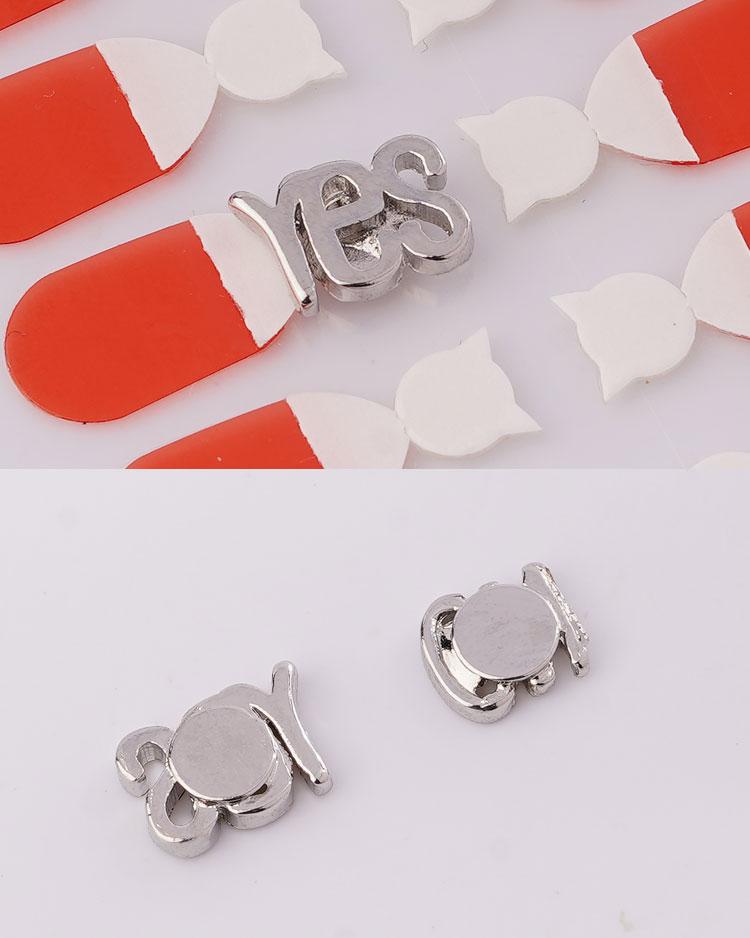萌趣可愛閃耀滿鑽小象 無耳洞黏貼式耳環 細節展示