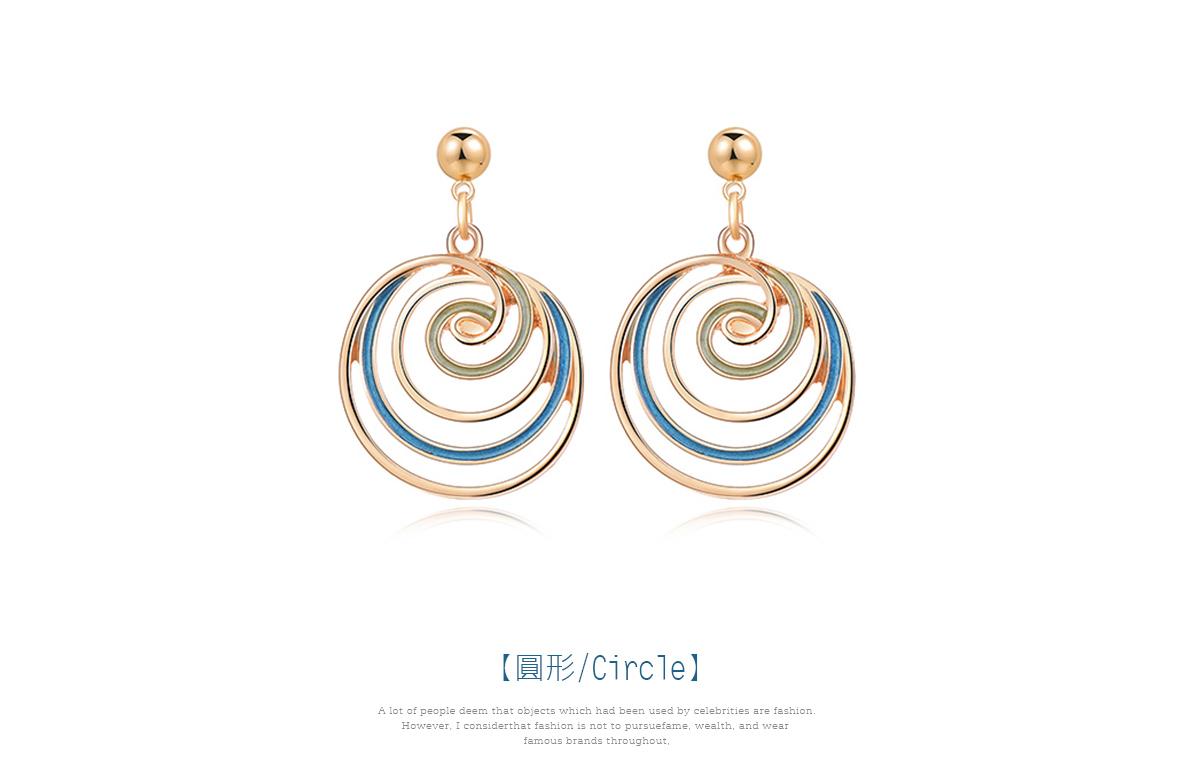 多層旋轉棒棒糖 耳針/黏式耳環,圓形