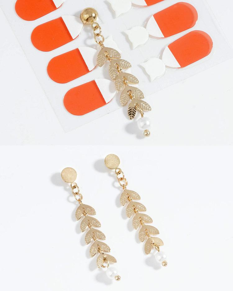 時尚優雅麥穗珍珠 耳針/無耳洞黏貼式耳環  細節展示