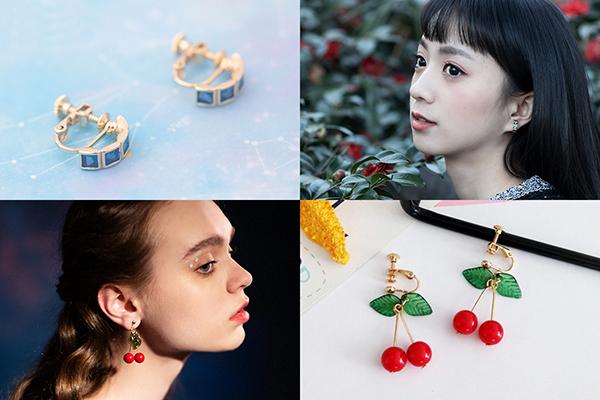夾式耳環、黏貼式耳環、推薦、夾式耳環怎麼戴