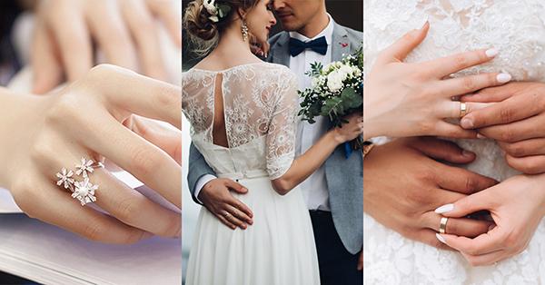 無名指代表著已婚,若看到女孩帶著無名指的戒指,那就只好死心啦