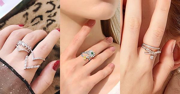 花戒是純裝飾用的戴法,在戒指的位置上也可以隨意選取,是非常自由的