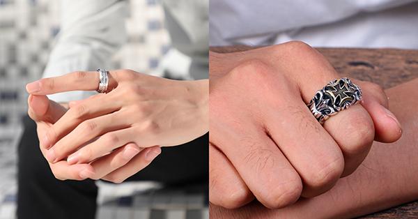 防刮的鋼材戒指也是熱門的戒指材質,適合男性配戴作為飾品!