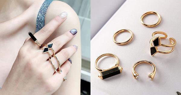 黃銅材質的戒指有著天然獨特的金色,戴起來獨具風格!