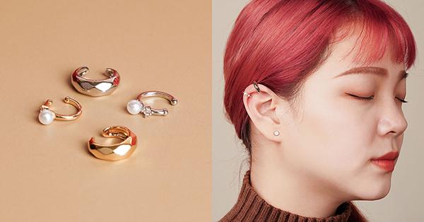 優雅的金屬珍珠耳骨夾很適合日常出門穿搭配飾