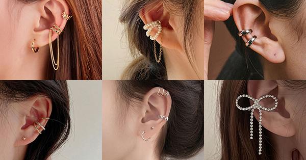 耳骨夾有非常多的選擇,各式各樣的造型與層次搭配,可以讓側臉線條更耀眼