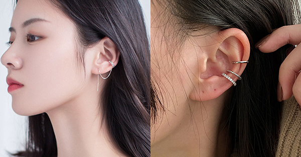 質感優雅的C型單環耳骨夾很適合任何場合做配戴