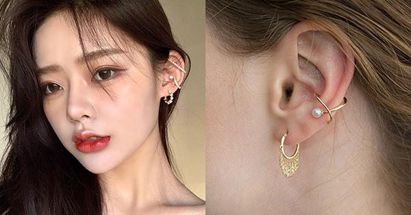 造型多樣的耳骨夾適合出席較精心打扮的場合做配戴