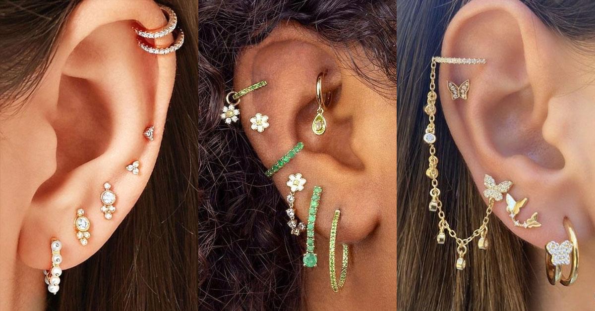 穿耳洞對女孩來說是臉部風格的延伸,個性化的展現自我。