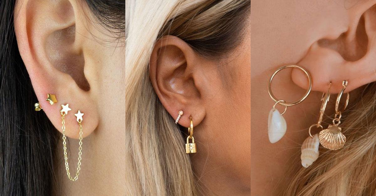 多個耳洞的女孩也很常見,個性化的層次搭配,讓臉部更吸睛。