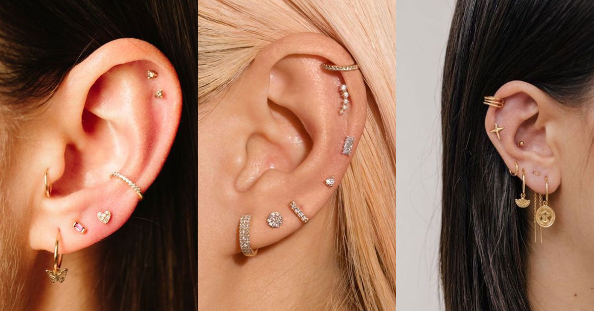 耳骨區的妝點更加個性化,穿洞的疼痛程度也隨之提升