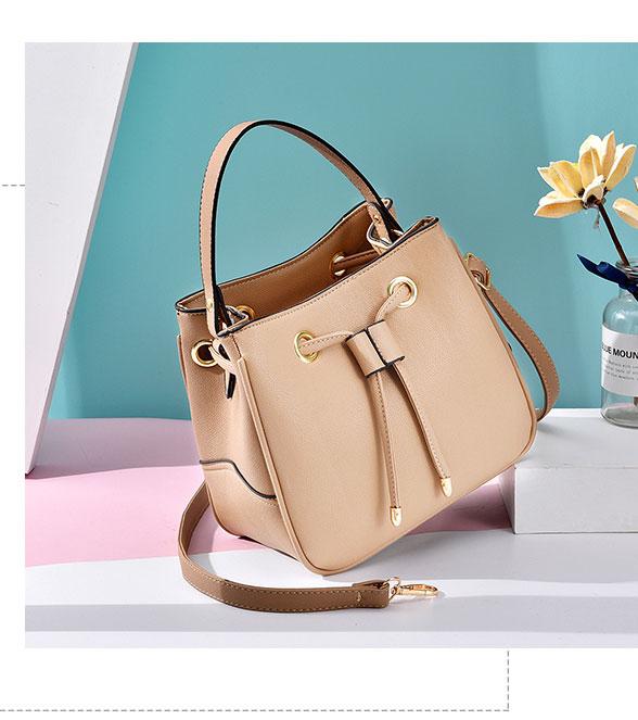 定型甜美抽繩側背手提包